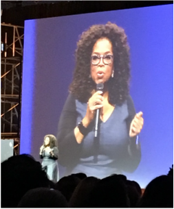 Oprah Winfrey on the Main Stage Quickbooks and HOPPE TAX CPA